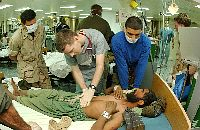 Medical support to Afghani troops